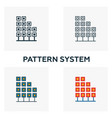pattern system icon set four elements in diferent vector image vector image