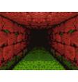 pixel art - horror corridor - 8 bit vector image vector image