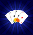 playing cards and poker chips vector image