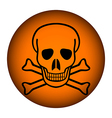 Poison sign button vector image vector image
