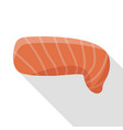 raw salmon icon flat style vector image vector image