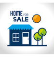 Real estate over white background vector image vector image