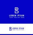 sb logo design - line art logo design concept vector image vector image