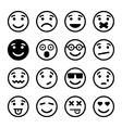 Smiley faces ns set vector image vector image