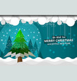 snowflake and trees vector image