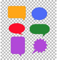 speech bubbles icon on transparent colorful set vector image