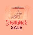summer sale banner with cute pelican flamingo vector image vector image
