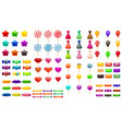 supe set of different sweets on white background vector image vector image