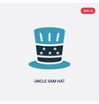 two color uncle sam hat icon from political vector image
