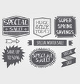 vintage sales label set vector image vector image