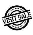 visit sale rubber stamp vector image vector image