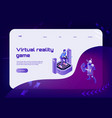 vr game concept banner vector image vector image