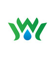 waterdrop leaf ecology logo image vector image vector image