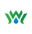 waterdrop leaf ecology logo image vector image
