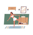 young modern woman exercising or working out vector image vector image