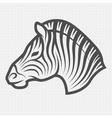 Zebra symbol logo emblem vector image vector image