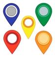 Map pins map markers set vector image