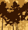 pine wood and two deer vector image