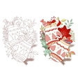 Christmas and New Year adult drawing of gloves vector image