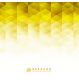 abstract geometric hexagon pattern yellow vector image