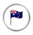 Australian flag icon in cartoon style isolated on vector image vector image