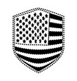 badge of flag united states of america black vector image vector image