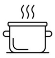 boiling water pot icon outline style vector image vector image