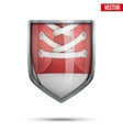 Bright shield in the running shoes inside vector image vector image