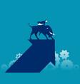 bull market stock market and exchange concept