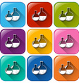 Buttons with chemicals vector image vector image