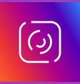 camera icon outline linear vector image vector image