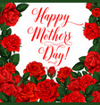 card happy mother s day vector image