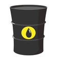 Cartoon barrel of oil vector image vector image