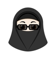 Cartoon girl with niqab vector image