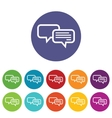 Chatting icon set vector image vector image