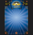 circus blue night poster vector image vector image