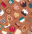 Collection of Retro Woman Bags Seamless Background