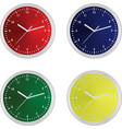 colorful clocks vector image vector image