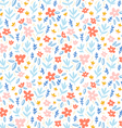 Colorful flowers on white background seamless vector image vector image