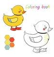Coloring book duck kids layout for game vector image vector image