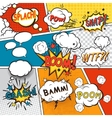 Comic set bubbles vector image