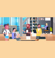 coworking office interior with casual people vector image vector image