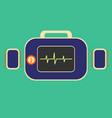 defibrillator in flat vector image vector image