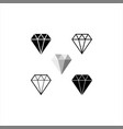 diamond icon crystal jewerly vector image
