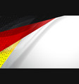 flag of germany background vector image