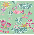 floral pattern and sun vector image vector image