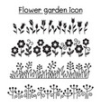 flower garden decorative graphic design vector image