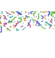 flying confetti ribbon colorful ribbons falling vector image