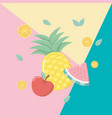 fresh and tropical fruits vector image vector image
