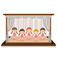 girls perform ballet on stage vector image vector image